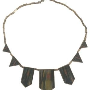 House of Harlow Green Statement Necklace